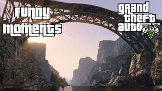 GTA5 Online: Bridge Diving - Funny Moments