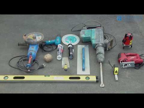 Монтаж пластиковых водоотводных лотков Gidrolica