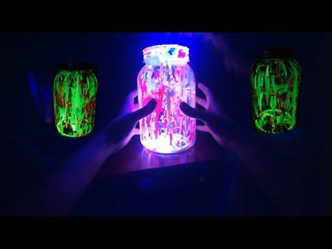 DIY Fairy Glow Jars  Glow In The Dark & Neon Blacklight Paint DIY Fairy Glow Jars How To Tutorial