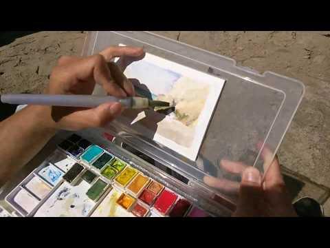 Watercolor Painting Timelapse El Matador Beach, Malibu, CA