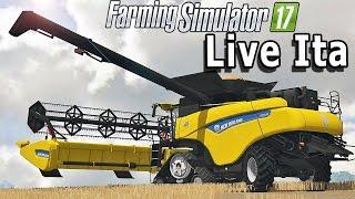 FARMING SIMULATOR 17 LIVE #96 - MIETITREBBIA CR10.90 w/Mito/supergashbell/Poderak/Luigi - LIVE ITA