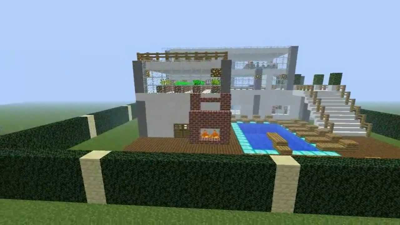 Como fazer uma casa moderna no minecraft youtube for Como criar peces ornamentales en casa