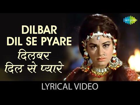 Dilbar Dil Se Pyare with lyrics   दिलबर दिलसे प्यारे गाने के बोल   Caravan   Asha Parekh, Jeetendra