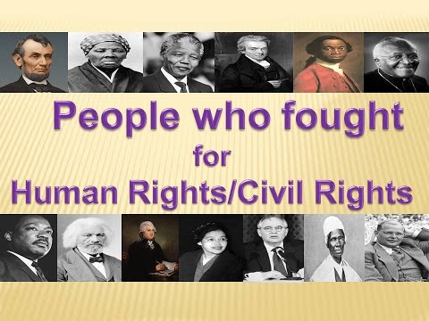 people who fought for human 1