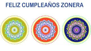 Zonera   Indian Designs - Happy Birthday