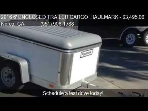 2016 6' ENCLOSED CARGO TRAILER: 4 X 6' HAULMARK FLEX for sale