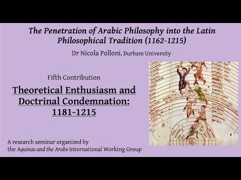 Theoretical Enthusiasm and Doctrinal Condemnation: 1181-1215 (Dr Nicola Polloni)