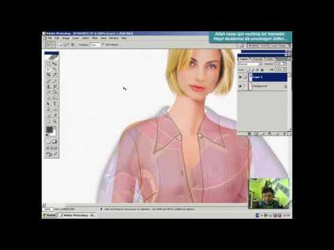 Photoshop, Photoshop Stilistlik, Photoshop Stilistlik, Kumaş Giydirme, Ders/2