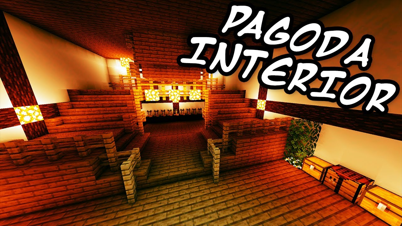 minecraft tutorials minecraft tutorial 28 how to build the japanese pagoda interior hd youtube