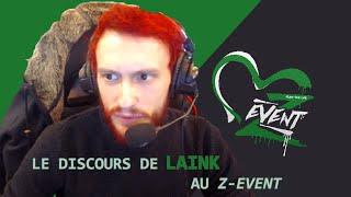 Laink, discours du Z-Event 2018.