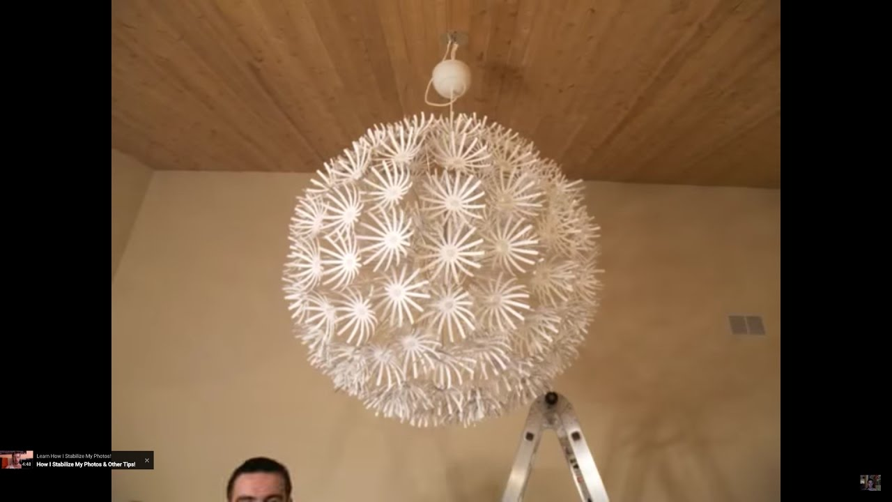Ikea Snowflake Maskros Lamp STOP MOTION Assembly! - YouTube for Flower Lamp Ikea  153tgx
