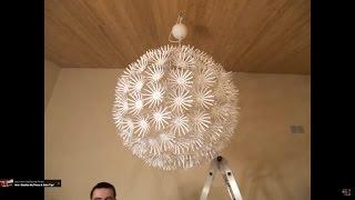 ikea snowflake maskros lamp stop motion assembly