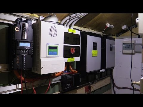 48v Solar off grid system. A look in my power room