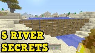 Minecraft - 5 SECRET Ways To Use Rivers (PE / Xbox)