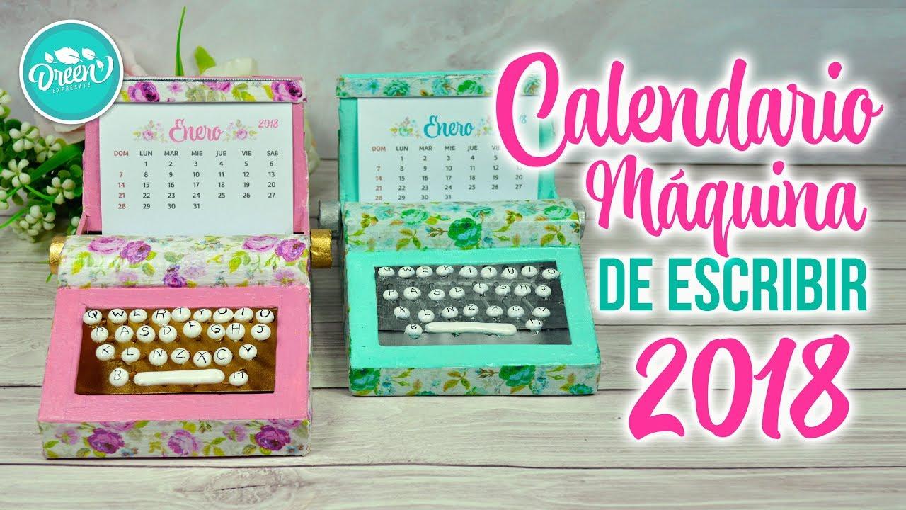Diy Calendar Singapore : Diy calendario máquina de escribir reciclaje cre