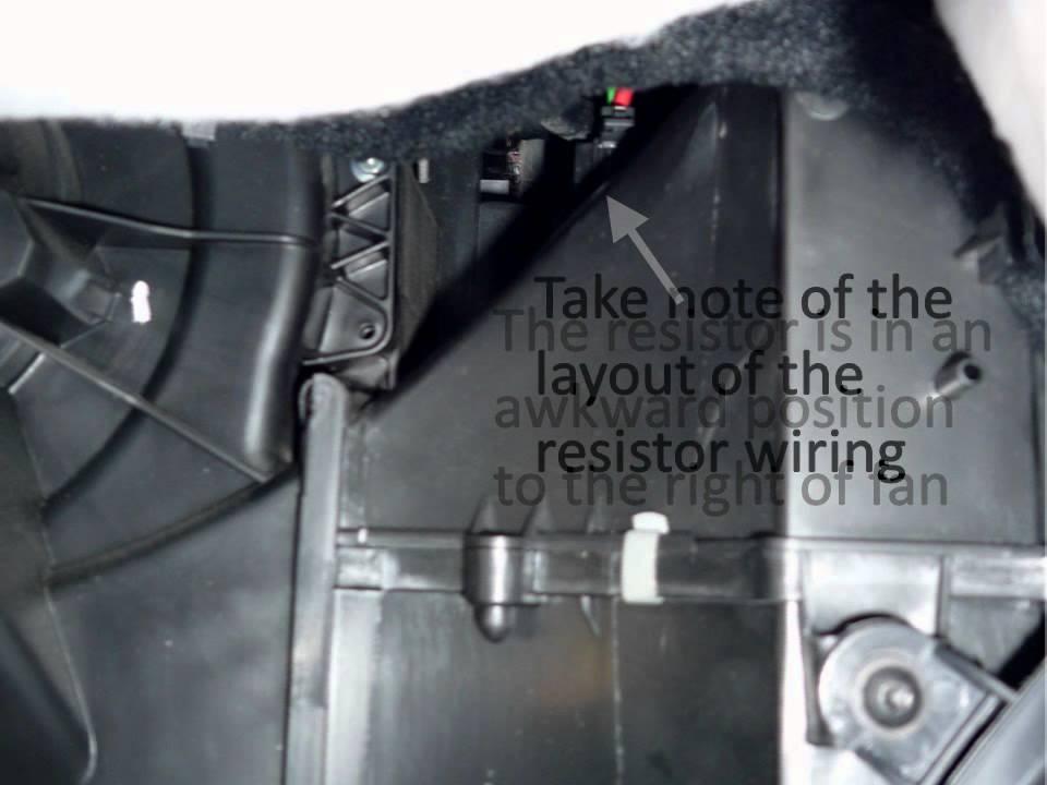 Vw Tiguan Fuse Diagram Replace Vw Polo Heater Fan Ballast Resistor Youtube