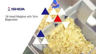 Ishida Europe - Snacks Packing System : 18 Head Weigher with Twin Bagmaker