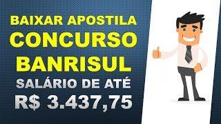 BAIXAR APOSTILA Concurso BANRISUL 2018