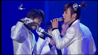 [HD] 100203  Super junior - Super girl + SorrySorry@19th Seoul Music Award