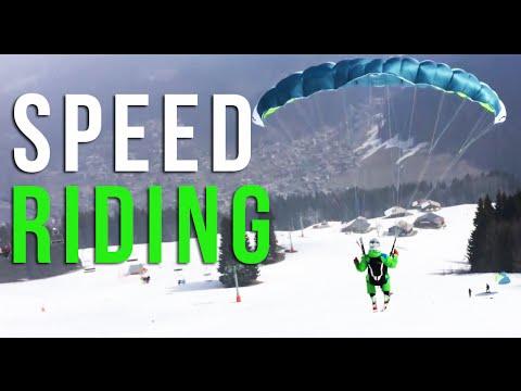Paragliding Morzine - speed-riding in Avoriaz French Alps Ski resort