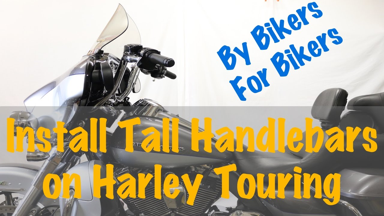 Install Tall Ape 13 Handlebars On Harley Touring Other Models 103 Wiring Diagram 2014 Youtube