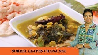 Sorrel Leaves Chana Dal - Mrs Vahchef
