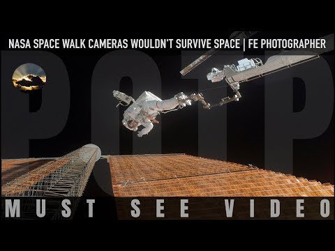 NASA Space Walk Cameras Wouldn't Survive Space (Flat Earth Photography Mirror)