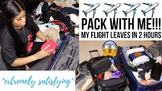 Pack With Me Fast Asf!!! My Flight Leaves In 2 Hours