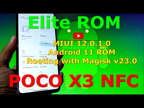 Elite Rom MIUI 12.0.1.0 Android 11 for Poco X3 NFC (Surya) Rooting