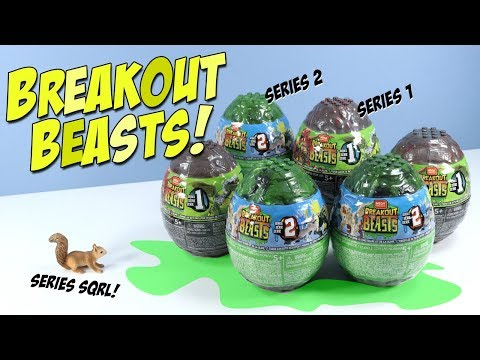 Breakout Beasts Series 2 And 1 Slime Eggs Build Review MEGA CONSTRUX
