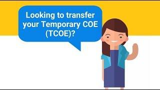 Transferring Temporary COE