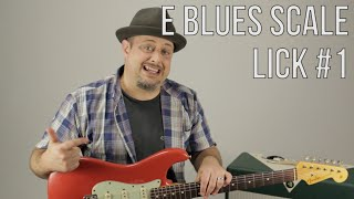 E Blues Scale Guitar Lesson - Lick 1- Blues Rock Soloing Guitar Lessons