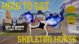 How To Get SkeĮeton Horse!! (Roblox Wild West)