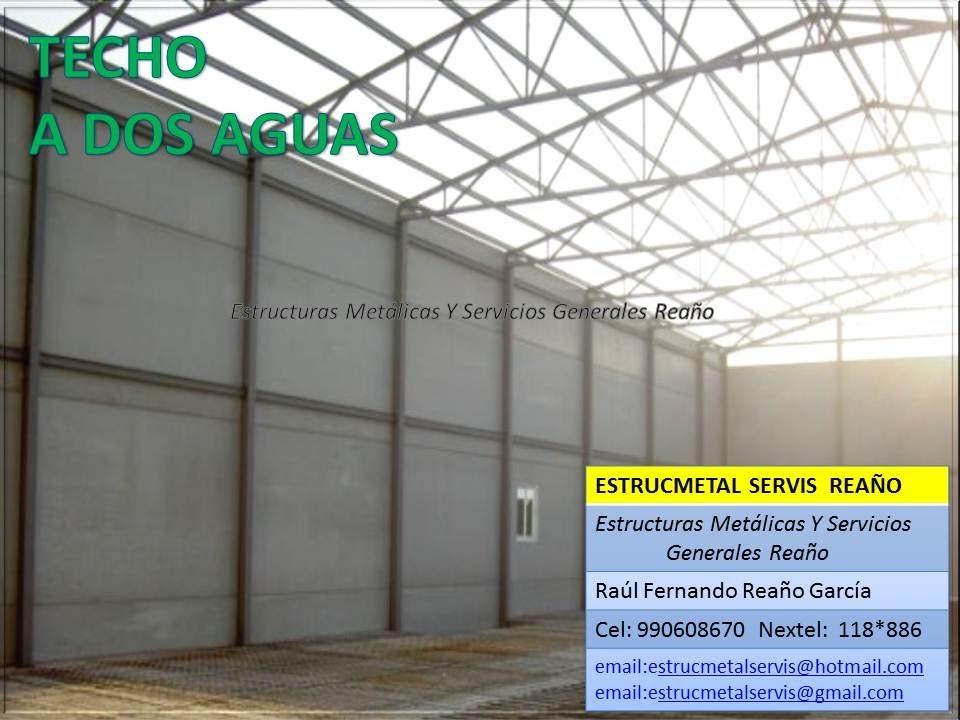 Como fabricar techo met lico estrucmetalservis rea o for Estructuras metalicas para tejados