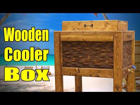 Wooden Ice Chest Patio Bar Plans