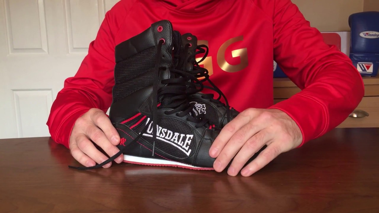 Amber Boxing Hyper Speed Elite TechMaxxe  Half Height Boxing Shoes Red//Black