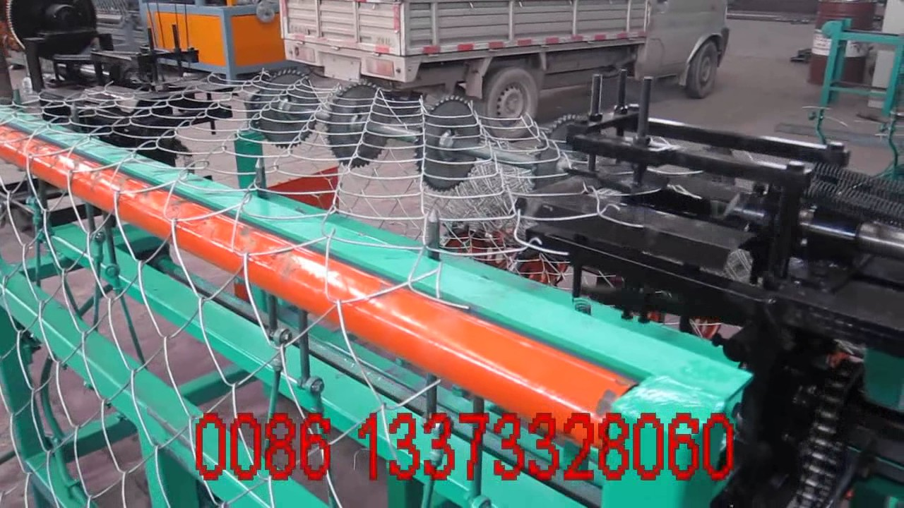 single wire feeding model chain link fence machine/wire mesh netting ...