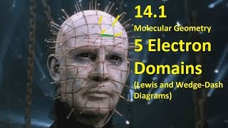 14 1 molecular geometry 5 electron domains lewis and wedge dash diagrams hl ib chemistry