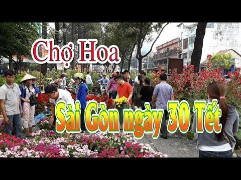Chợ hoa Sài Gòn ngày 30 Tết Mậu Tuất 2018 đắt như tôm tươi.