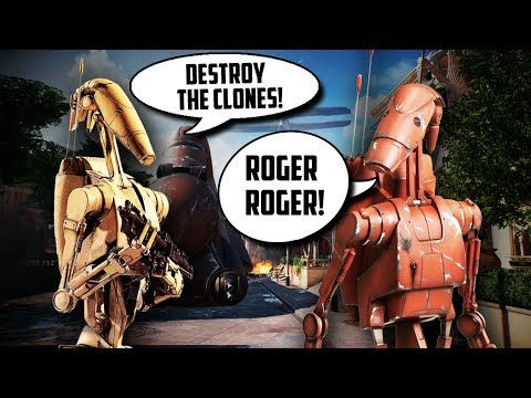 'Roger Roger!' Droid/Clone Voice RP & Funny Moments! (Star Wars BF2 Beta)