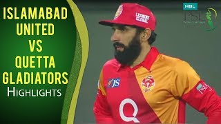 PSL 2017 Match 7: Islamabad United v Quetta Gladiators Highlights