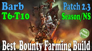 Diablo 3 Best Bounty Farming Barbarian Build (Patch 2.30 and Season 4)