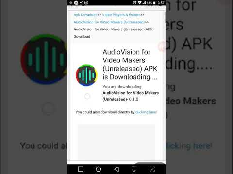 How to download audiovision for video maker (unreleased) free