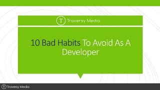 Gambar cover 10 Bad Habits To Avoid As A Developer