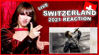 Switzerland   Eurovision 2021 Reaction   Gjon's Tears - Tout l'Univers - LIVE