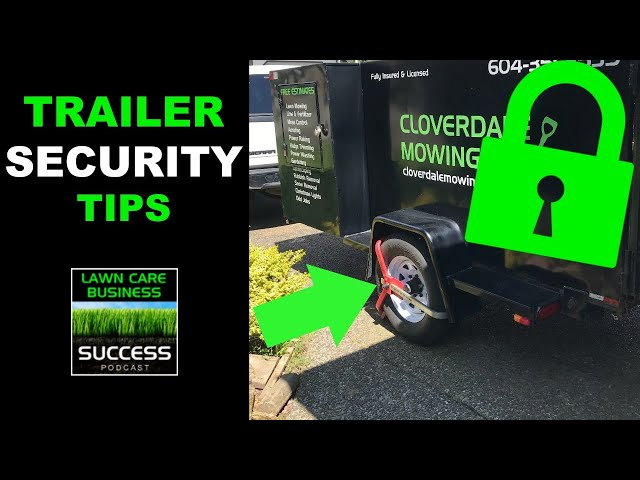 Trailer Security Tips