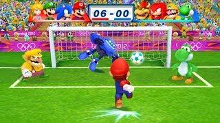 Mario Sonic At The London 2012 Olympic Games Football Mario Sonic Luigi Peach