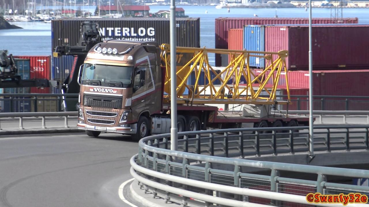 4K| Volvo FH16 Transports Potain MDT Tower Crane Parts