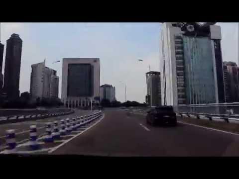 ChongQing Drive from YuZhong Peninsula to YuBei District