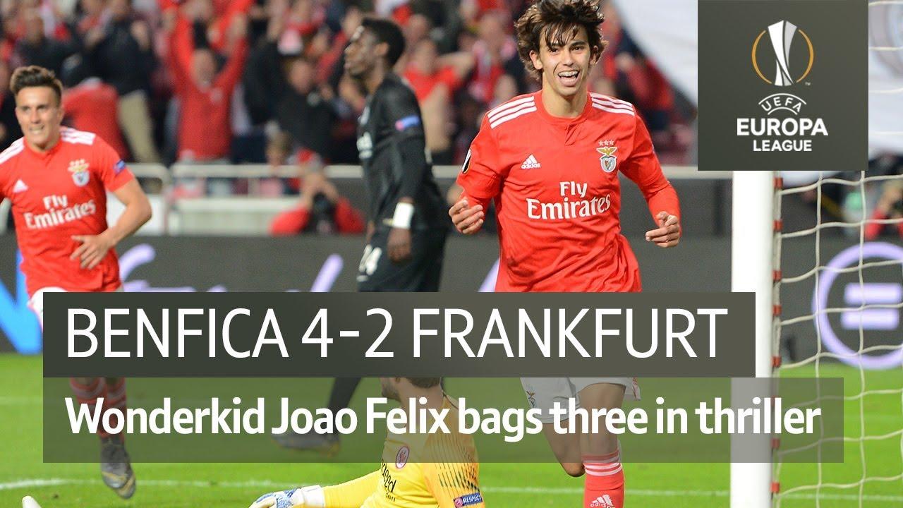 Benfica Vs Frankfurt 4 2 Uefa Europa League Highlights Youtube